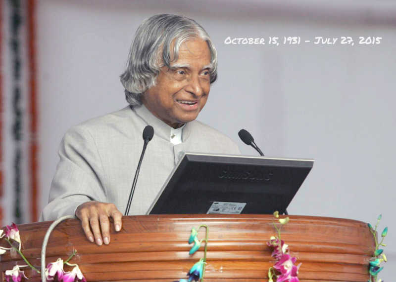 Indian Scientist and Former President APJ Abdul Kalam passes away after collapsing during lecture at IIM Shillong