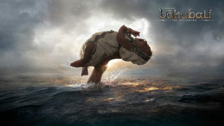 First look poster of Baahubali movie child grab with claw