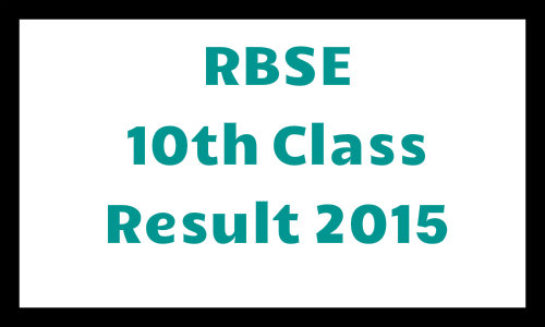 rajsthan board 10th class result 2015