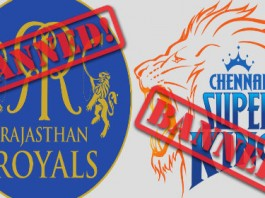 CSK - RR Banned for two years
