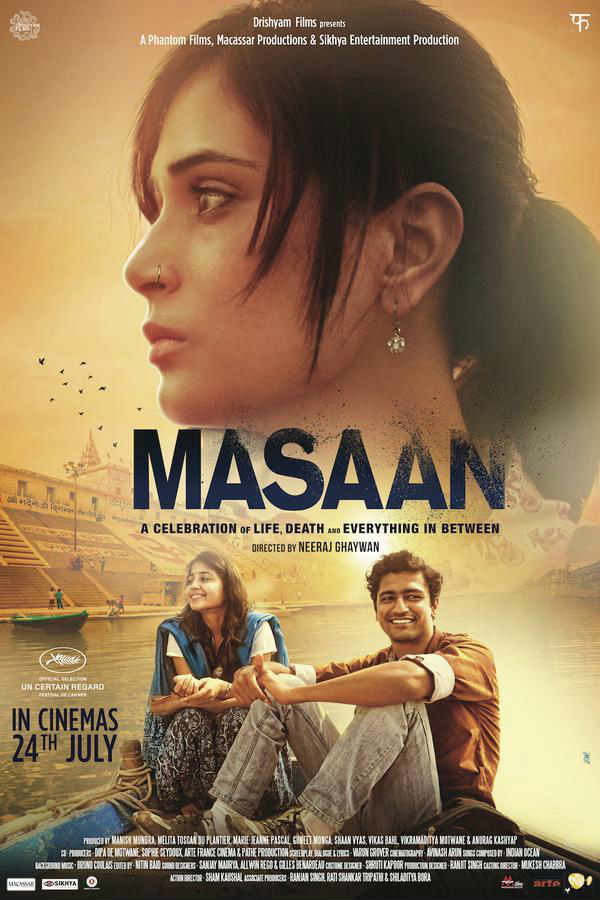 Masaan movie Richa Chaddha and Vicky Kaushal poster