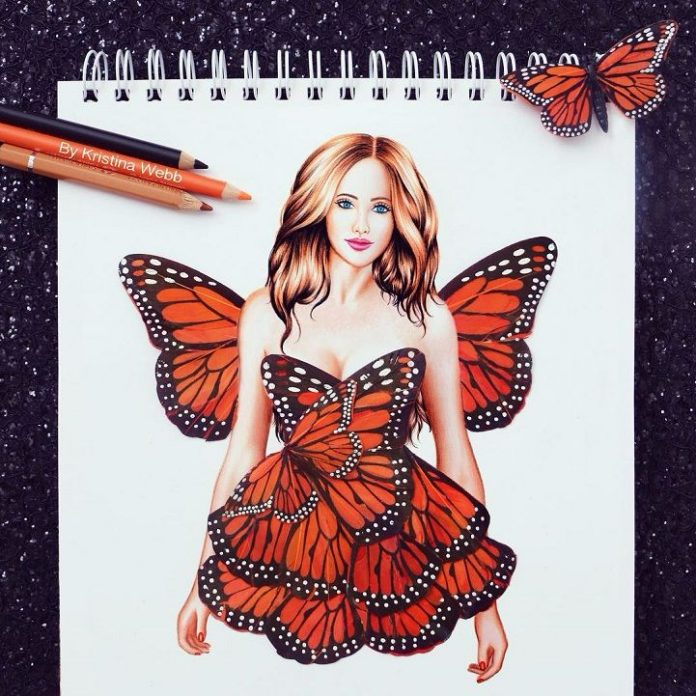 butterfly girl images wallpaper